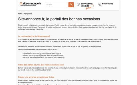 Screenshot of About Page site-annonce.fr - A propos de Site-annonce.fr - captured Aug. 22, 2016