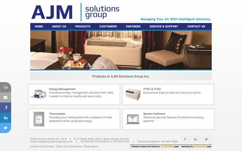 Screenshot of Products Page ajmsolutionsgroup.com - AJM Solutions Group Inc. - Hospitality Solutions - captured Feb. 4, 2016