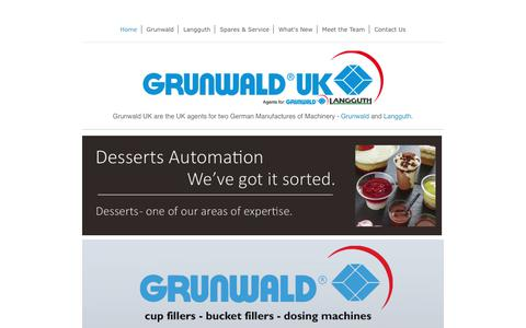 Screenshot of Home Page grunwald-uk.com - Grunwald UK Ltd - Home - captured Sept. 19, 2017