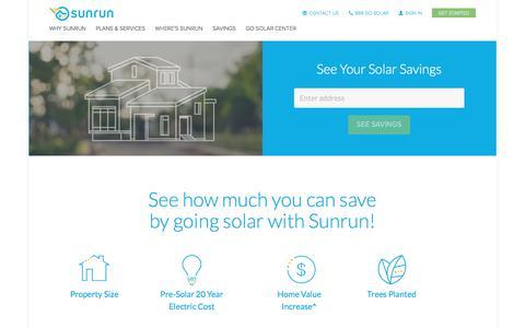 Screenshot of sunrun.com - Solar Calculator   Solar Panel Calculator   Sunrun - captured Nov. 26, 2017