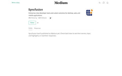 Syncfusion – Medium