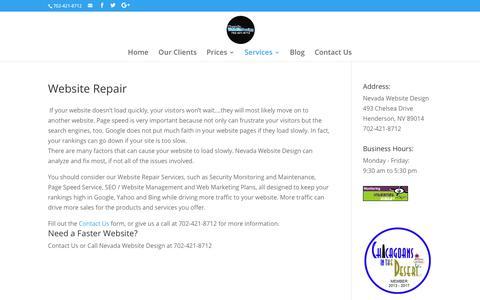 Website Repair | Nevada Website Design | Henderson | Las Vegas
