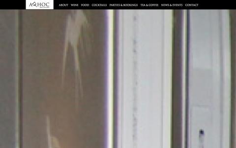Screenshot of Contact Page adhocbarandkitchen.com - Contact Us - Ad hoc Bar & Kitchen - captured Dec. 23, 2015