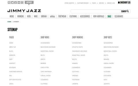 Sitemap | Jimmy Jazz
