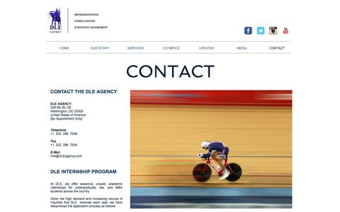 Screenshot of Contact Page dleagency.com - DLE Agency - captured Nov. 28, 2016