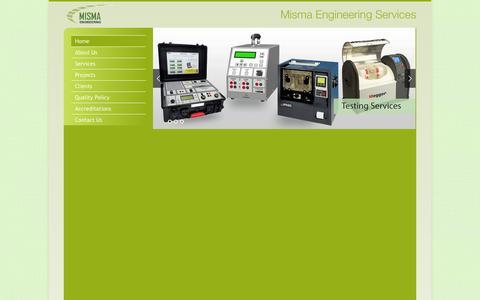 Screenshot of Home Page misma.com.pk - Misma Engineering - A Engineering Company - captured Oct. 3, 2014
