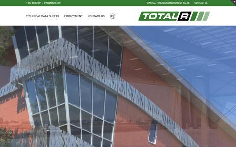 Screenshot of Home Page total-r.com - Total-R Insulation – 1.877.868.2571 - captured Nov. 13, 2017