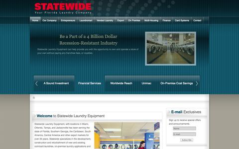 Screenshot of Home Page statewideusa.com - Statewide Laundry Equipment - captured Oct. 7, 2014