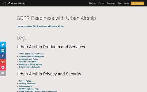 Legal   Urban Airship