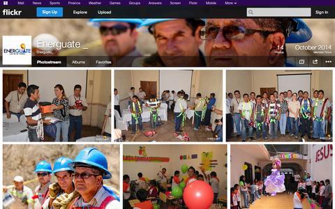 Screenshot of Flickr Page flickr.com - Flickr: Energuate_'s Photostream - captured Oct. 28, 2014