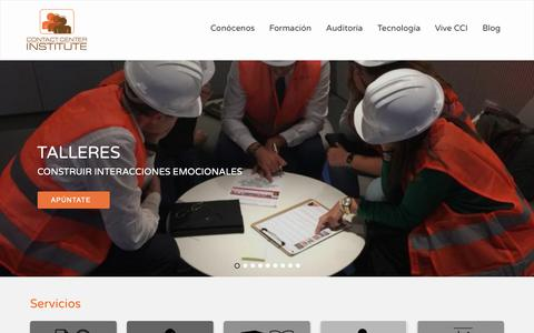 Screenshot of Home Page contactcenterinstitute.es - Contact Center Institute | Formación equipos de atención al cliente - captured Dec. 8, 2018