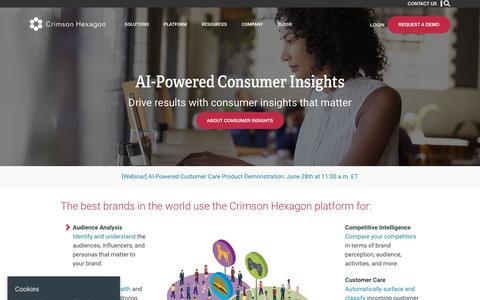 Crimson Hexagon – AI-Powered Consumer Insights