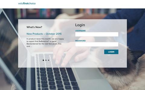 Screenshot of Login Page vetsfirstchoice.com captured Nov. 17, 2015