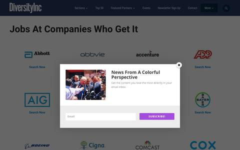 Screenshot of Jobs Page diversityinc.com - Jobs At Companies Who Get It - DiversityInc - captured July 20, 2019
