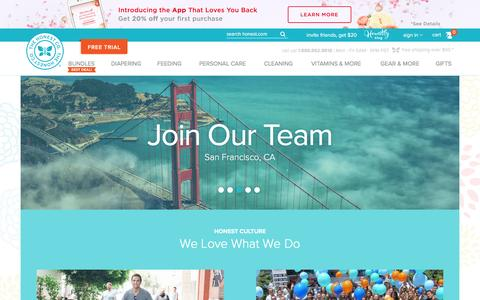 Screenshot of Jobs Page honest.com - Careers | Jobs at The Honest Company - captured Feb. 12, 2016