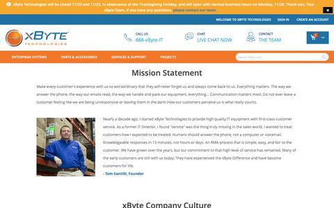Screenshot of About Page xbyte.com - About Us - captured Nov. 17, 2018