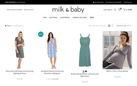 Nursing Sleepwear -Breastfeeding Nightgowns - Milk And Baby – Milk & Baby
