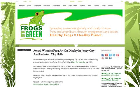 Screenshot of Blog frogsaregreen.org - Frogs Are Green Blog - Awareness and Conservation about the challenges Frogs and Amphibians face due to environmental issues   Frogs Are Green - captured June 6, 2017