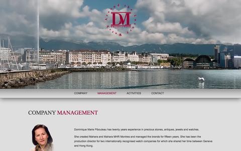 Screenshot of Team Page dmproduction.ch - Management   DMProduction - captured Oct. 7, 2014
