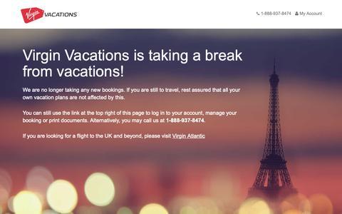 Screenshot of FAQ Page virgin-vacations.com - Virgin Vacations - captured April 4, 2019