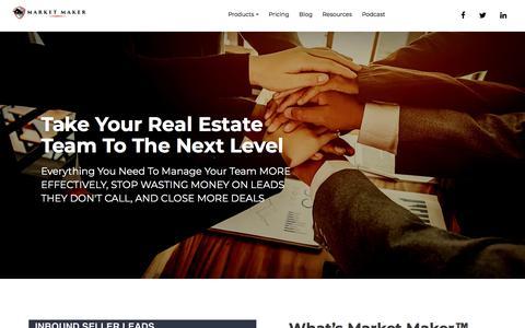 Screenshot of Team Page marketmakerleads.com - Market Maker Team - captured Sept. 20, 2018