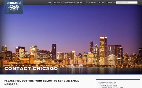 Screenshot of Contact Page chidry.com - Contact Chicago | Chicago Dryer - captured Jan. 27, 2016