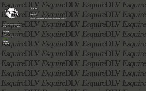 Screenshot of About Page bigcartel.com - EsquireDLV —   About. - captured Sept. 19, 2014