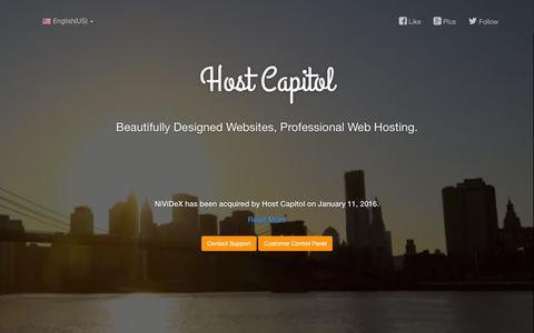 Screenshot of Home Page nividex.com - NiViDeX - captured Jan. 11, 2016