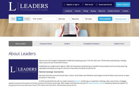 Screenshot of About Page leaders.co.uk - About Leaders - Lettings and Estate Agency - captured July 6, 2017