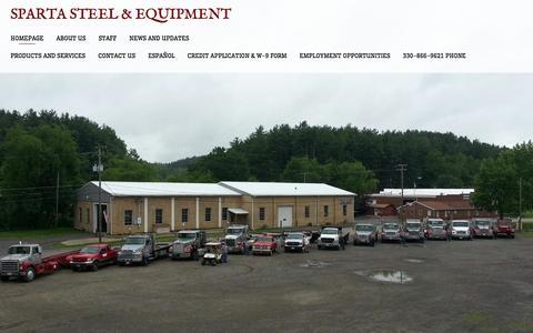 Screenshot of Home Page spartasteel.com - Sparta Steel & Equipment - captured Oct. 3, 2014