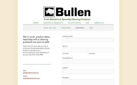 Screenshot of Contact Page bullenonline.com - Contact — Bullen - captured Oct. 22, 2017