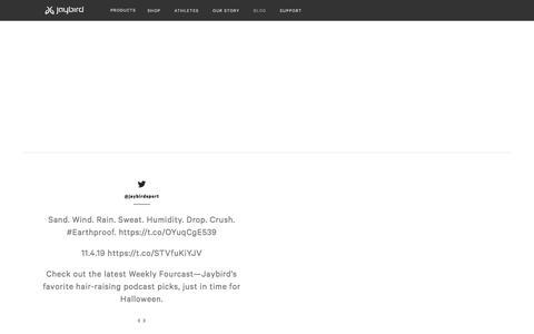 Screenshot of Blog jaybirdsport.com - Jaybird Blog   #poweryourpassion - captured Nov. 9, 2019