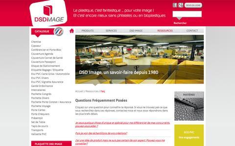 Screenshot of FAQ Page dsdimage.com - Questions fréquement posées | DSD Image - captured Sept. 30, 2014
