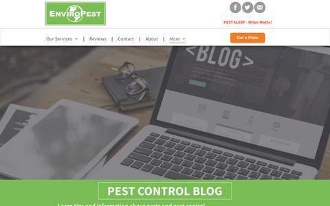 Screenshot of Blog enviropest.com - Northern Colorado's Pest Control And Wildlife Control Blog - captured July 20, 2018