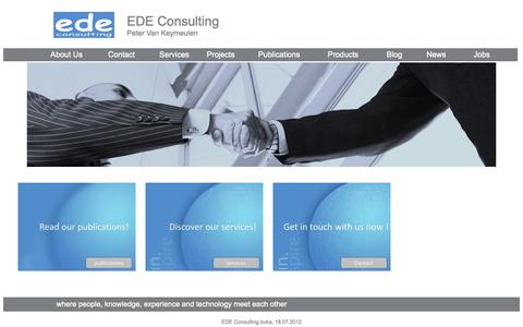 Screenshot of Home Page edeconsulting.be - EDE Consulting - captured Sept. 26, 2014