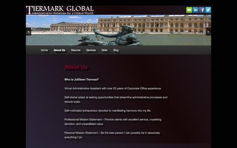 Screenshot of About Page tiermark.biz - About Us   Tiermark - captured Oct. 6, 2014