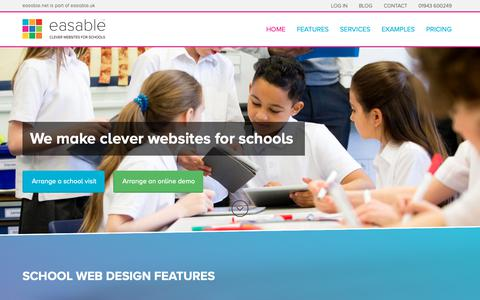 Screenshot of Home Page Privacy Page easable.net - School Web Design | by easable.net | clever websites for schools - captured Nov. 2, 2018