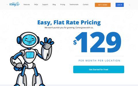 Screenshot of Pricing Page iclasspro.com - iClassPro Pricing - iClassPro Class Management Software - Gymnastics, Cheer, Swim, and Dance - captured Nov. 9, 2019