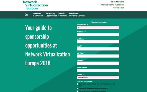 Screenshot of Landing Page knect365.com - Network Virtualization Europe SPEX Brochure - captured March 4, 2018