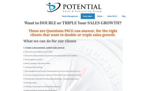 Potential Sales Group | Want to Double or Triple Sales Growth?