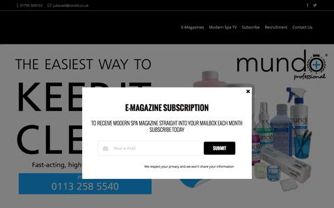 Screenshot of Home Page modern-spa.com - Modern Spa Magazine   Homepage - captured Feb. 8, 2016
