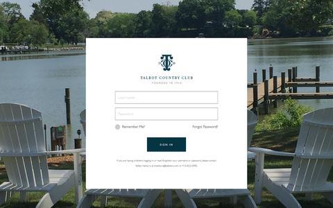 Screenshot of Login Page talbotcc.com - Member Login - Talbot Country Club - captured Nov. 28, 2016