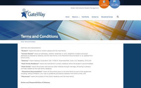 Screenshot of Terms Page gateway-education.com - Terms and Conditions | Gateway EducationGateway Education - captured Nov. 1, 2014