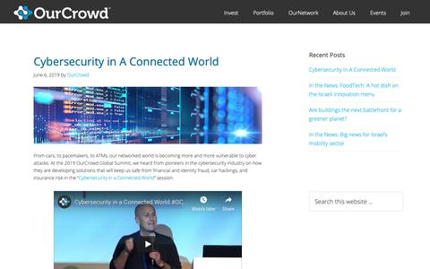Screenshot of Blog ourcrowd.com - OurCrowd - A better way to invest in startups. - captured June 13, 2019