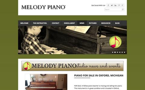 Screenshot of Press Page melodypiano.net - See What's New with Melody Piano - MELODY PIANO - captured Oct. 27, 2014