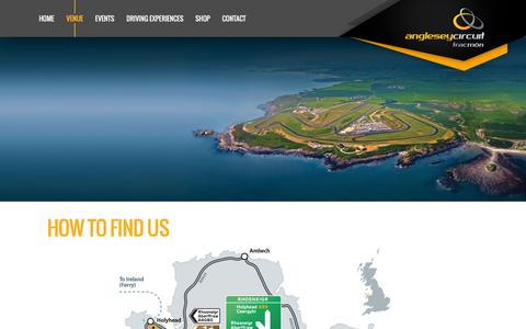 Screenshot of Maps & Directions Page angleseycircuit.com - How to find us – Anglesey Circuit – Trac Môn - captured July 25, 2016