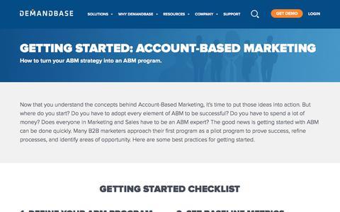 Screenshot of Case Studies Page demandbase.com - Getting Started Account-Based Marketing Tactics | Demandbase - captured Nov. 6, 2019