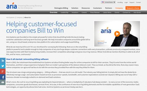 Screenshot of About Page ariasystems.com - Cloud Billing | Specialists in Subscription Billing Software - captured Sept. 12, 2014