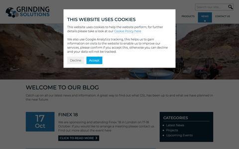 Screenshot of Blog grindingsolutions.com - News - Grinding Solutions Ltd - captured Sept. 30, 2018