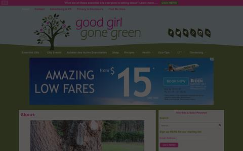 Screenshot of About Page goodgirlgonegreen.com - About - Good Girl Gone Green - captured Dec. 12, 2015